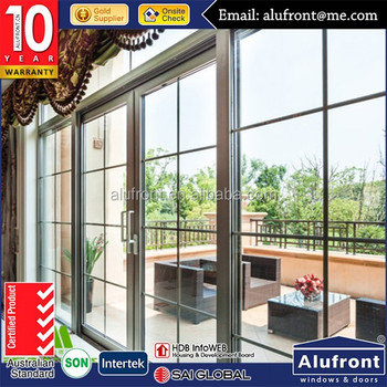 Europe style design heavy duty powder coated aluminum sliding patio doors interior and exterior