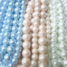 Facke Pearl Strand Beads Abs Material With Through Hole