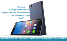 New mlais mobile phone with Android 4.4 KitKat MTK6592 1GB RAM 8GB ROM c QHD 960*540 IPS 2800mah battery