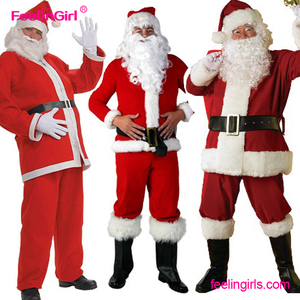 2017 Wholesale Cheap Price Plus Size Adult Christmas Cosplay Santa Claus Costume