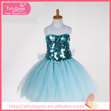 Medium length halter top tutu gauze dress with bright pattern decoration halloween costume