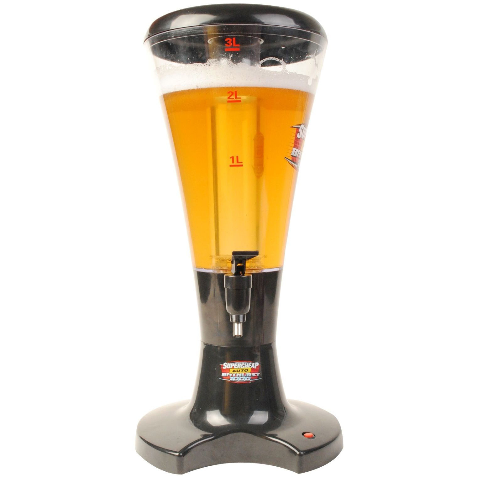 3L Cheap Plastic Beer Tower Beverage Dispenser with LED Lights