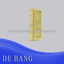 Luxury gold bar big cigarette gas lighter from China factory