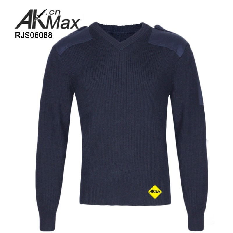 U.S Style Navy Blue Warm Fabric Military Pullover Army Sweater For Outdoor Hiking