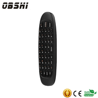 Rechargeable OEM package fly 2.4g wireless air mouse keyboard for TV box