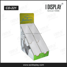 fashion counter top paper material cardboard shoe display stand for store retail