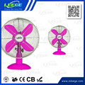 "FT-30M 12"" Powerful 4 blades high qualitide coloured metal desk table fan"