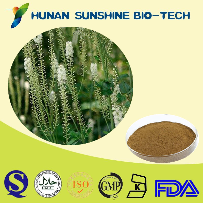GMP Manufacturer Supply Natural Black Cohosh Extract,Snake Root Extract