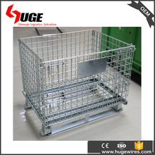 Stackable Wire Dump Bin Wire Mesh Container Metal Pallet Cage
