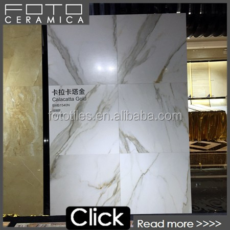 Calacatta golden porcelain <strong>tiles</strong> for the wall and floor