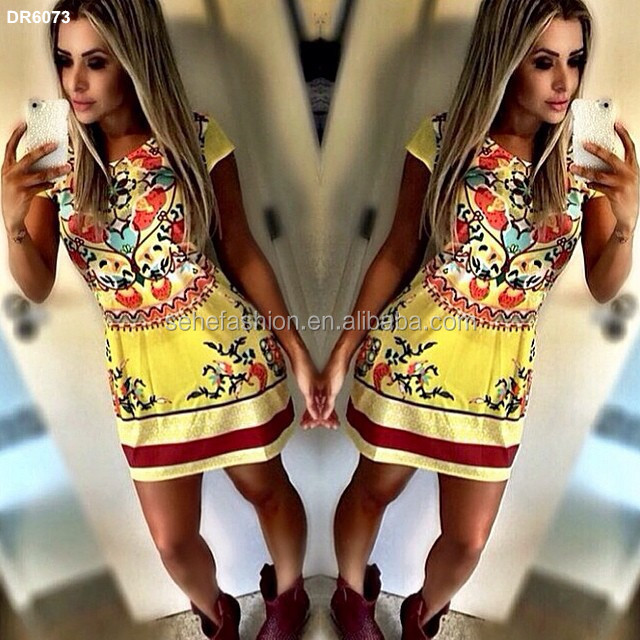 free shipping 2016 yellow new african fashion dress for young ladies