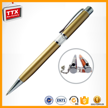 Customized Logo Print Cheapest ball pen metal,crystal writing pen