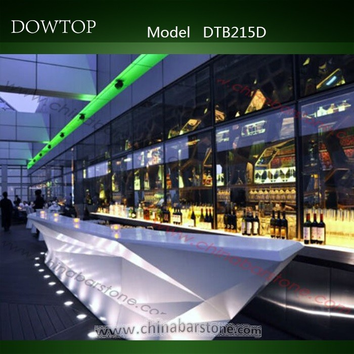glossy bar counter top stylish wine bar counter /LED commercial bar counter