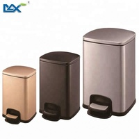 Guangzhou MAX pedal dustbin stainless steel foot pedal bin for hotel