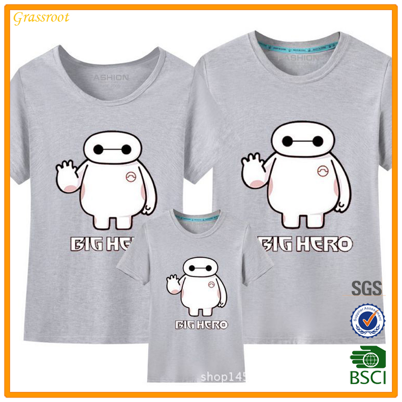 2016 New Family fitted Women Men Kids Couple Lovers Cotton Shirts T-shirt Tops