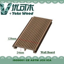 Exterior wood plastic composite colored wall paneling