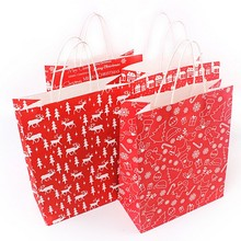 Factory Wholesale Exquisite Christmas Ornaments Packaging Paper Bag With Twisty Paper Handle