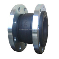 expansion joint rubber bellows pn16 with steel flange
