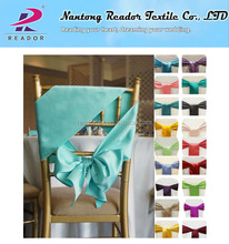 Wholesale Chair Sashes/ Satin Chair Sash Bow of Weddings/ Satin Ribbon Chair Cover Sashes Bow Ties for Banquet Party Decoration