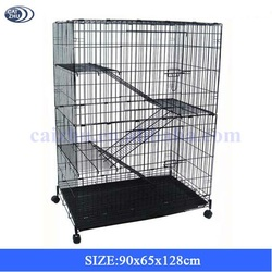 Cat Cage with Ladders Platforms and Wheels