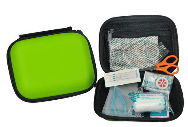 2017 CE FDA approved fashionable EVA first aid travel EVA aid kit Promotional gift EVA emergency kit