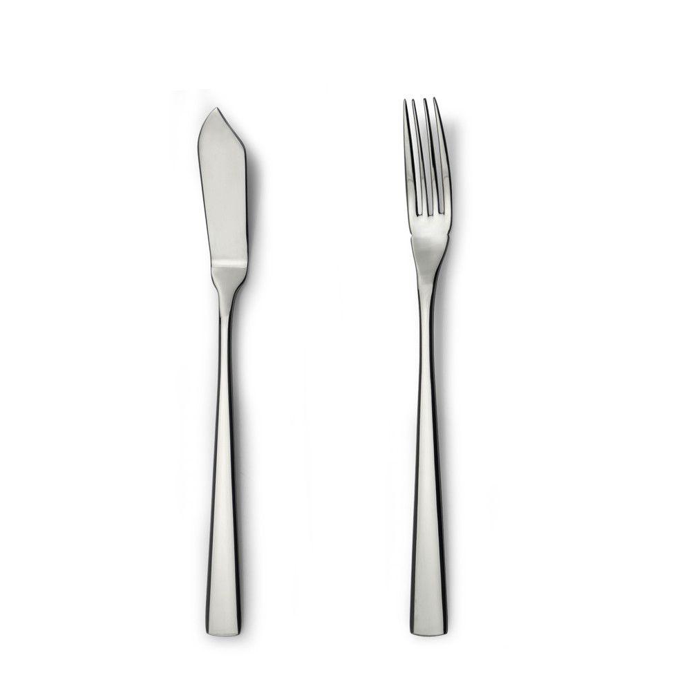 stainless steel fish knife and fish fork set