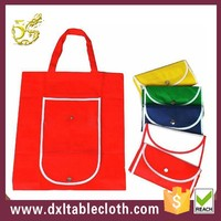 folding non woven shopping bags with rope handle
