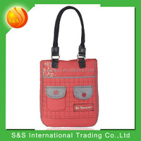 wholesale cheap stock foldable polyester shopping tote bag