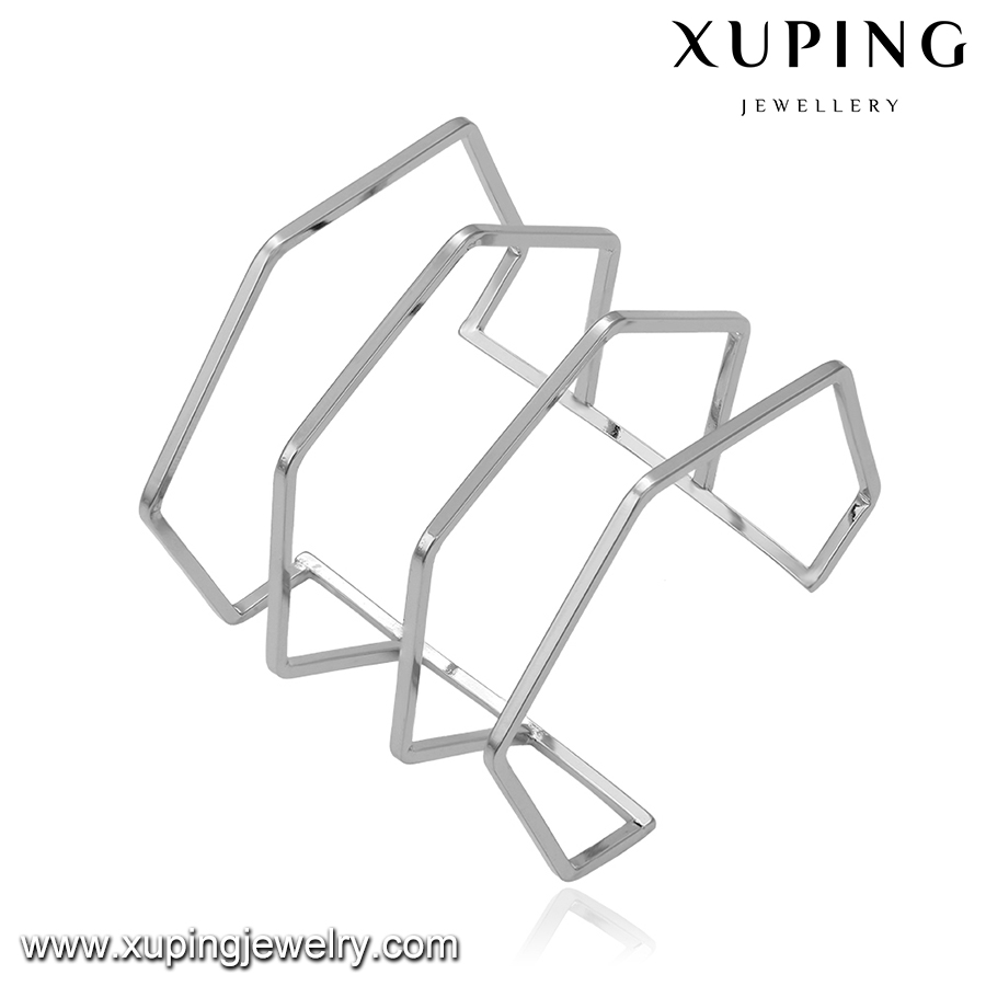 51635 Xuping trendy Edge type Hollow bangle, Polished opening bracelet bangle, Ltalian Style New Fashion Jewelry