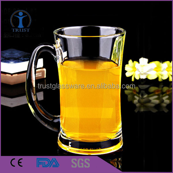 German glass beer mug /cheap beer glass with logo
