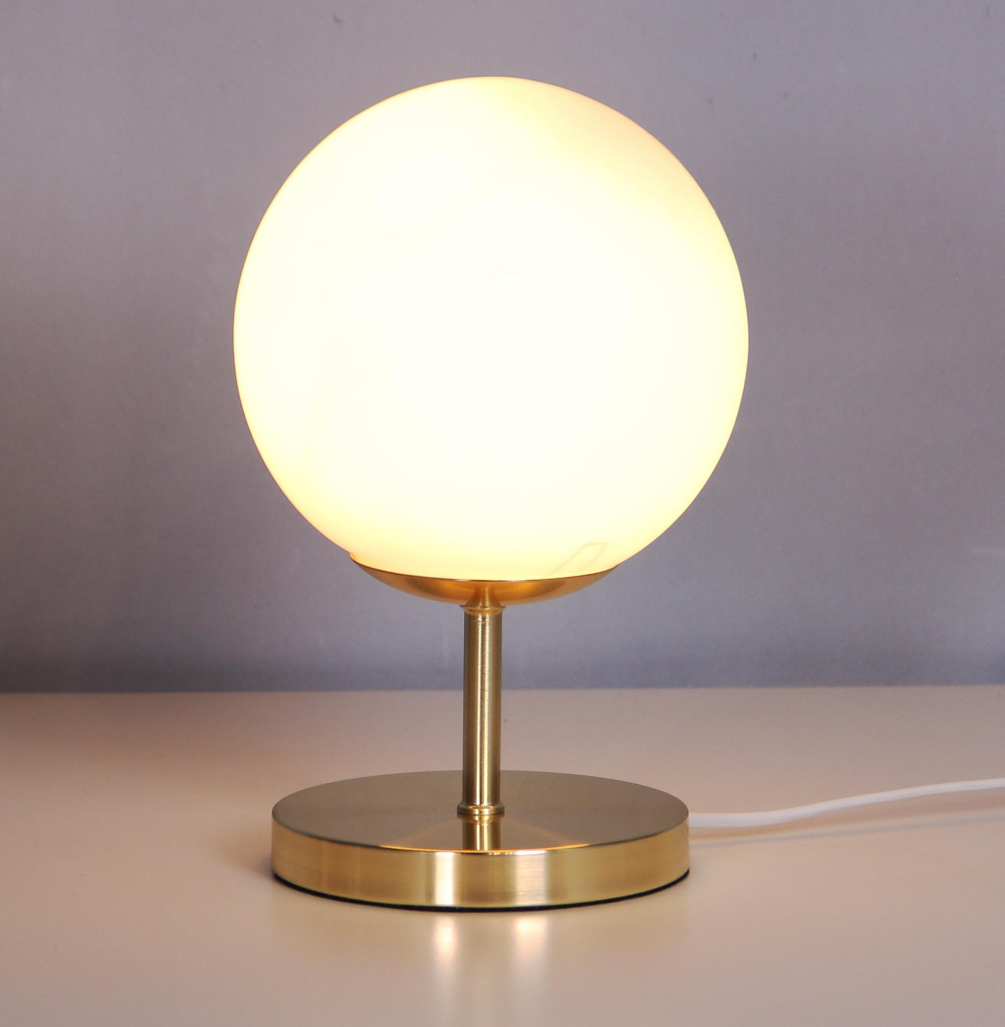 Glass shade table lamps modern style led reading lamps