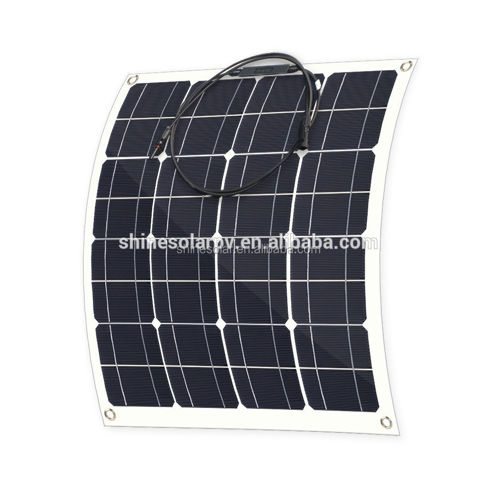 A grade cell thin film 12v flexible mono solar panel 50w flexible solar panel 50 watt