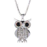 retro sweater necklace the owl alloy necklace