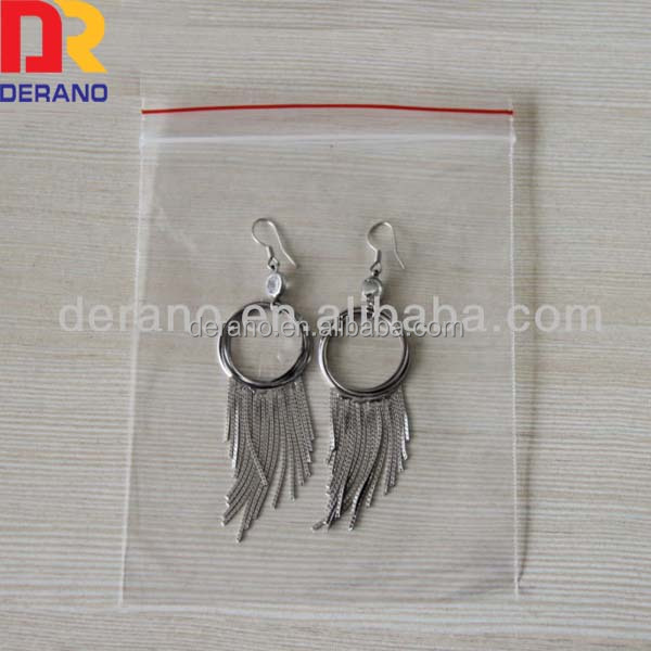 Custom Transparent plastic Jewelry Ziplock Bag