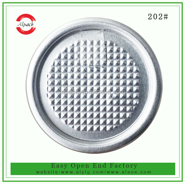 202# Finland export POE easy peel off lid for food can