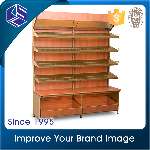 2016 Good quality bakery equipment food wood bread plate display rack