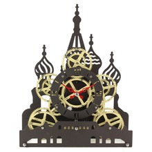 Mktime Factory Direct sale Red Square Gear Table clock