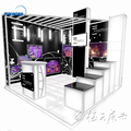 Detian Offer exhibition booth design light weight tension fabric trade show display