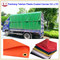 Coated Pattern and Canvas Fabric Type PVC Blue Truck cover Tarps