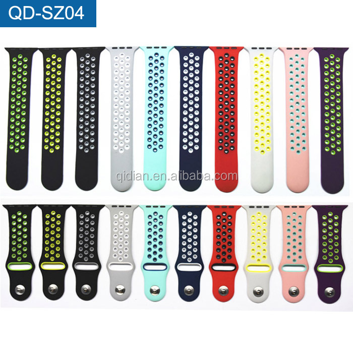 New Arrival 2017 Sport Silicone Quick Release Watch Band Rubber Watch Strap For Apple iWatch Band