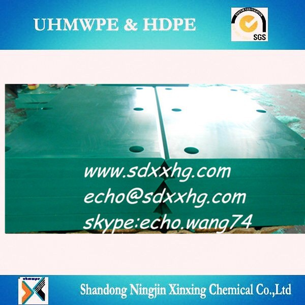 Marine rubber fender facing pad/Cell marine fender UHMWPE face panel/UHMWPE bumper face pad
