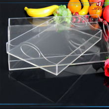 Custom made PMMA lucite plexiglass Clear Acrylic Serving Trays Wholesale