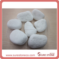 china cheap white Machine made cobblestone for sale/the cheapest cobblestone