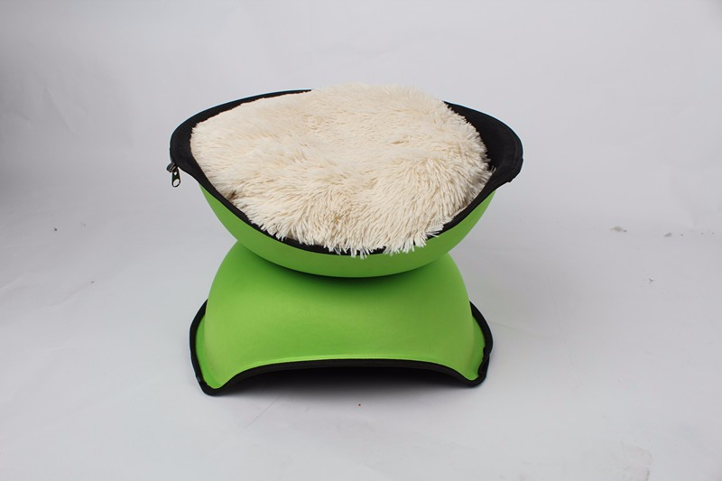 offer china pet peoduct round cat house pet cave felt bed