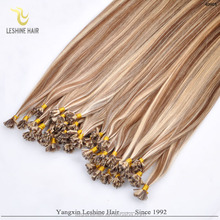 Direct Factory Wholesale Price No Tangle Full Ends 100 Remy Human Hair Itaily keratin flat tip hair color middle blue