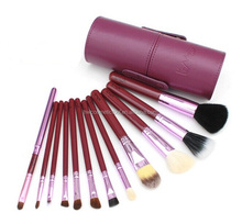 New arrival professional cylinder packing purple cosmetic makeup brush set