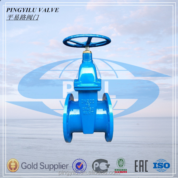 DIN f4 flanged pn16 ductile iron gate valves for water supply