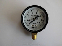 high quality black electrophoresis ear screw type pressure gauge with CE