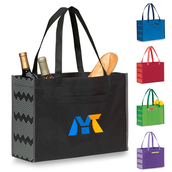 Handled reusable polyester non woven shopping bag