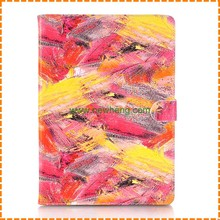 Painted Leather Wallet Case With Stand Holder Colorful Leather Case For iPad air